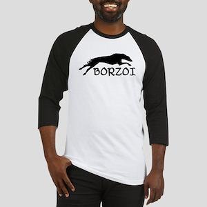 Running Borzoi w/Text Baseball Jersey