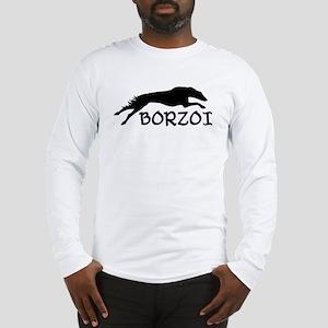 Running Borzoi w/Text Long Sleeve T-Shirt