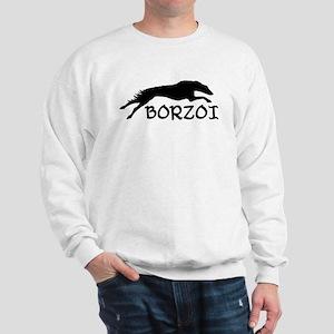 Running Borzoi w/Text Sweatshirt