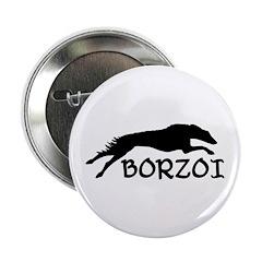 Running Borzoi w/Text Button