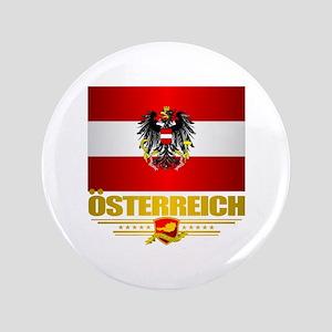 """Austrian Flag & COA 3.5"""" Button"""