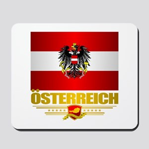 Austrian Flag & COA Mousepad
