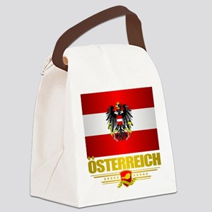 Austrian Flag & COA Canvas Lunch Bag