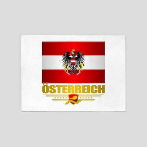 Austrian Flag & COA 5'x7'Area Rug