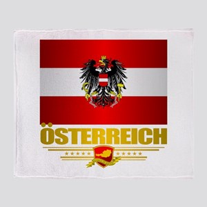 Austrian Flag & COA Throw Blanket