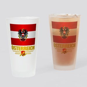 Austrian Flag & COA Drinking Glass