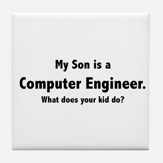 Computer Engineer Son Tile Coaster