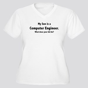 Computer Engineer Son Women's Plus Size V-Neck T-S