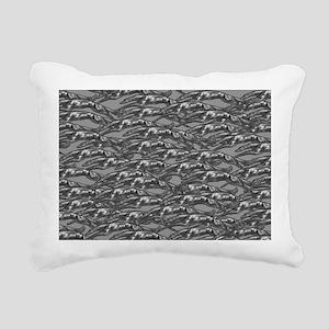 LeapingHoundsCharcoal Rectangular Canvas Pillow
