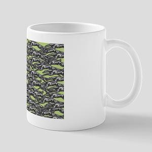 Leaping Hounds Lime Mug