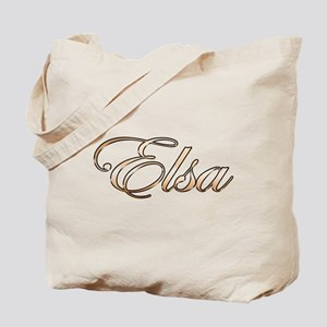 Gold Elsa Tote Bag