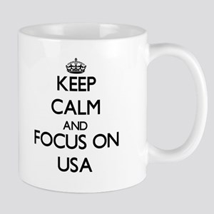 Keep Calm by focusing on Usa Mugs
