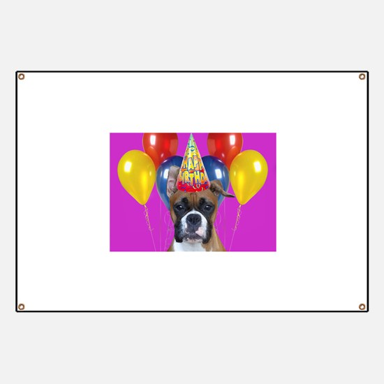 Birthday Boxer puppy Banner