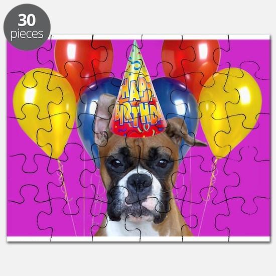 Birthday Boxer puppy Puzzle