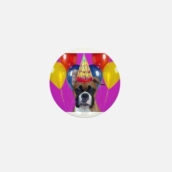Birthday Boxer puppy Mini Button