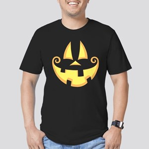 Jack-o-Face Men's Fitted T-Shirt (dark)