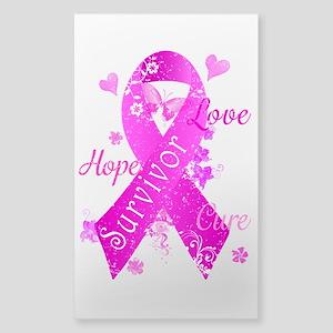 Survivor Love Hope Cure Sticker (Rectangle)