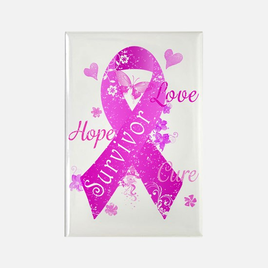 Survivor Love Hope Cure Rectangle Magnet