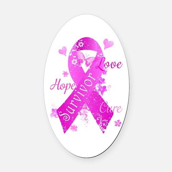 Survivor Love Hope Cure Oval Car Magnet