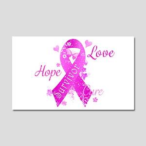 Survivor Love Hope Cure Car Magnet 20 x 12