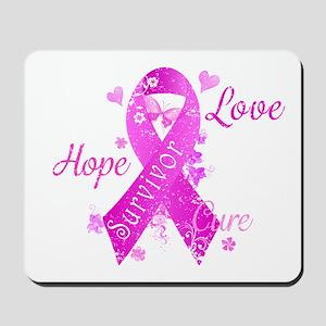 Survivor Love Hope Cure Mousepad