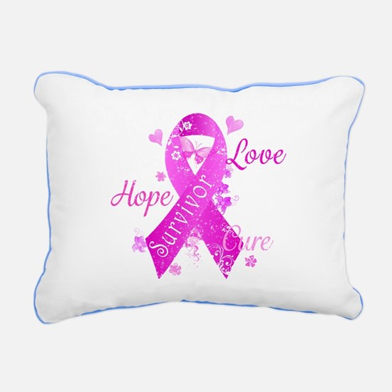 Survivor Love Hope Cure Rectangular Canvas Pillow