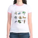 Bikes of the Animal Kingdom Jr. Ringer T-Shirt
