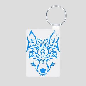 Blue Tribal Wolf Keychains