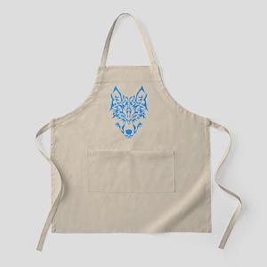 Blue Tribal Wolf Light Apron