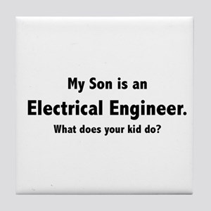 Electrical Engineer Son Tile Coaster
