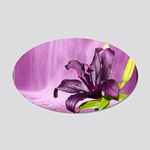 Lily With Waterfall in Purple Wall Decal