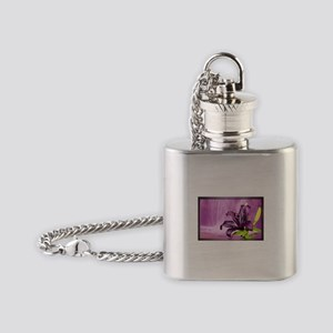 Lily With Waterfall in Purple Flask Necklace