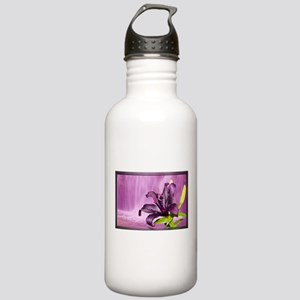 Lily With Waterfall in Purple Water Bottle