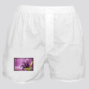 Lily With Waterfall in Purple Boxer Shorts