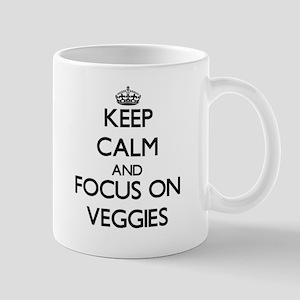 Keep Calm by focusing on Veggies Mugs