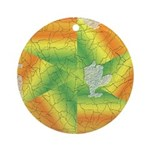 Weathered Tile Effect Christmas Ornament (Round)