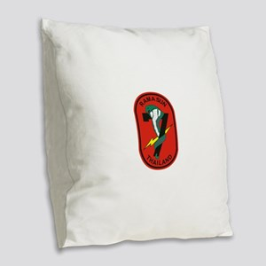 7th RRFS Burlap Throw Pillow