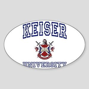 KEISER University Oval Sticker