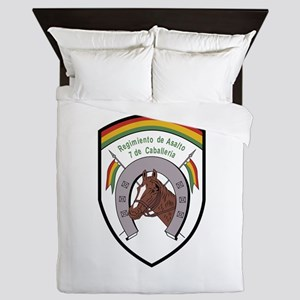 Bolivia military Badge 7 de Caball Queen Duvet
