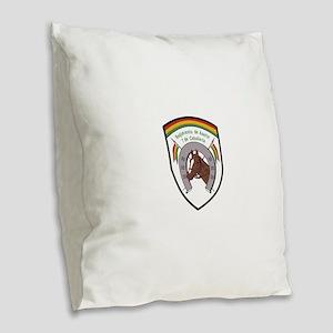 Bolivia military Badge 7 de Ca Burlap Throw Pillow