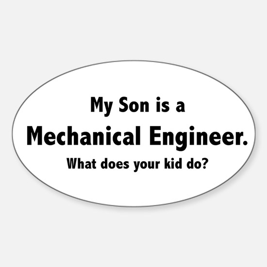 Mechanical Engineer Son Oval Decal