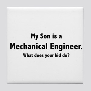 Mechanical Engineer Son Tile Coaster