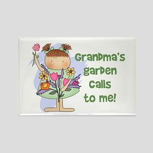 Grandma's Garden Calls Rectangle Magnet