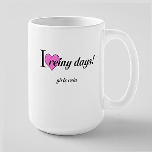 I love reiny days! Large Mug