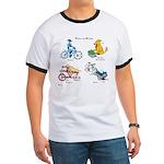 Dogs on Bikes Ringer T