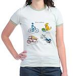 Dogs on Bikes Jr. Ringer T-Shirt