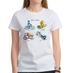 Dogs on Bikes Women's T-Shirt