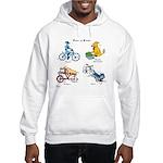 Dogs on Bikes Hooded Sweatshirt