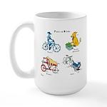 Dogs on Bikes Large Mug