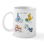 Dogs on Bikes Mug